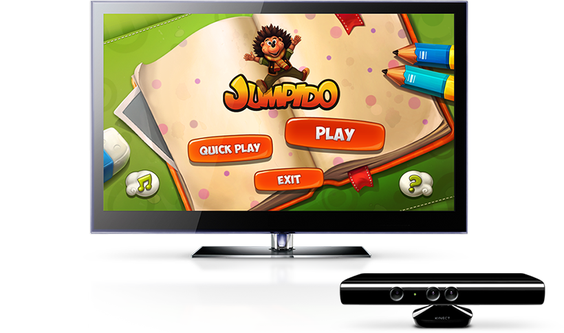 Jumpido on TV with Kinect